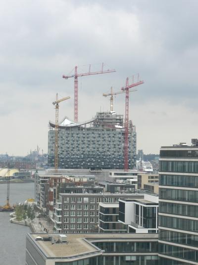 Das Dach der Elbphilharmonie