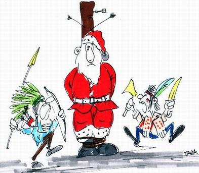 Cartoons mit dem Weihnachtsmann
