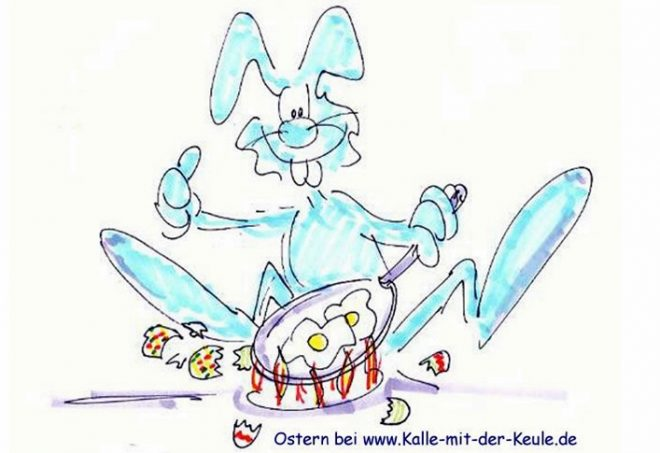 Cartoon Ostern