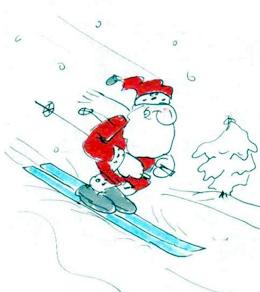 lustiger Weihnachtsmann für die Weihnachtskarte