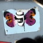 aufkleber street art