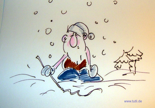 Lustige Weihnachtsmänner Cartoons