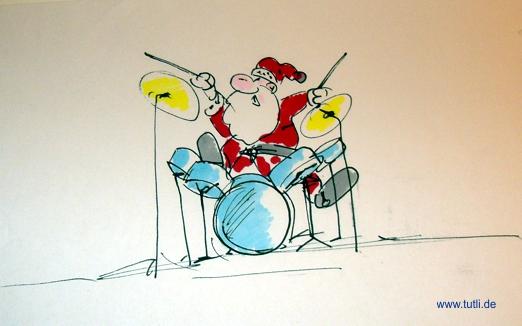 Weihnachtsmann Schlagzeug
