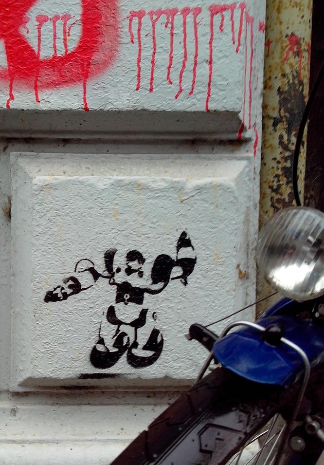Stencil Streetart Rosenhofstrasse