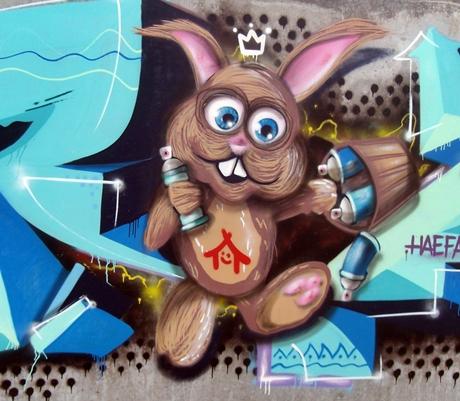 Graffiti Oster Hase
