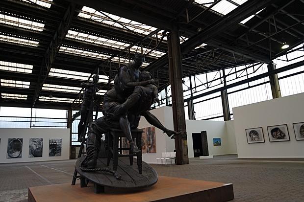kunstausstellung in buedelsdorf in der carlshütte fabrik