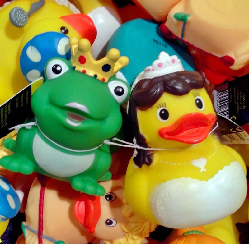 Gummi Ente Braut und Bräutigam