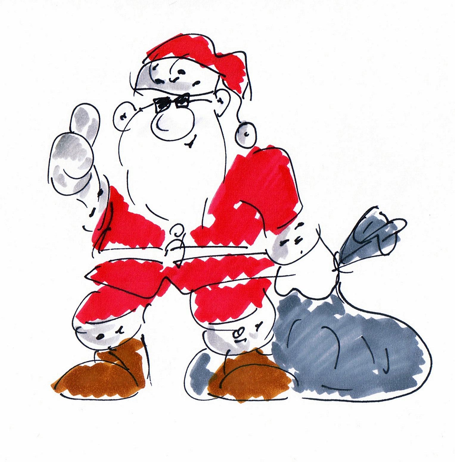 Weihnachtsmann lustig